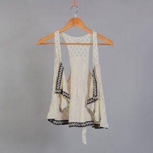 [Free People] lace vest